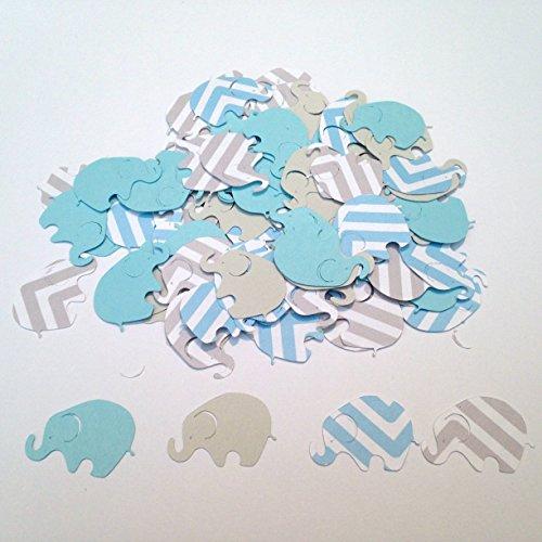 100 Elephant Baby Shower Blue Chevron Elephant 1 inch Confetti Blue Gray Elephant Confetti Elephant Cut Out Elephant Theme Baby Shower Blue Elephant Confetti Boy Baby Shower It's a -