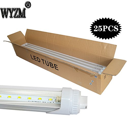 WYZM R17D 4FT 20W F48T12/CW/HO Straight T12 Fluorescent LED Tube Light Bulb for Vending Cooler Freezer Replacement Bulb (10-Pack 5500k) by WYZM (Image #5)