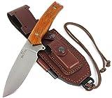 JEO-TEC Nº21 Bushcraft Survival Hunting Knife - BOHLER N690C Stainless Steel, Multi-positioned Sheath - Handmade