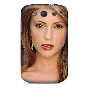 Waterdrop Snap-on Alyssa Milano American Actress Singer Case For Galaxy S3