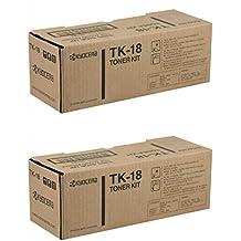 Kyocera KM-TK18 (KMTK18) Black Toner Cartridge 2-Pack for FS-1020D, KM-1815, KM-1820