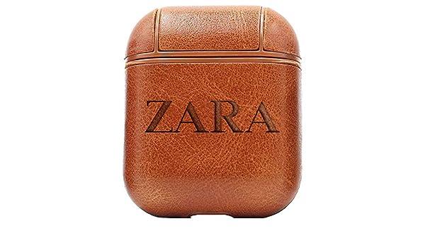 Master Craftsmen - Funda de Piel sintética para AirPods, diseño de Logotipo de Zara (marrón Vintage), Color marrón: Amazon.es: Electrónica