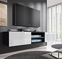 muebles bonitos – Mueble TV Modelo Tibi (160 cm) en Color Negro y Blanco