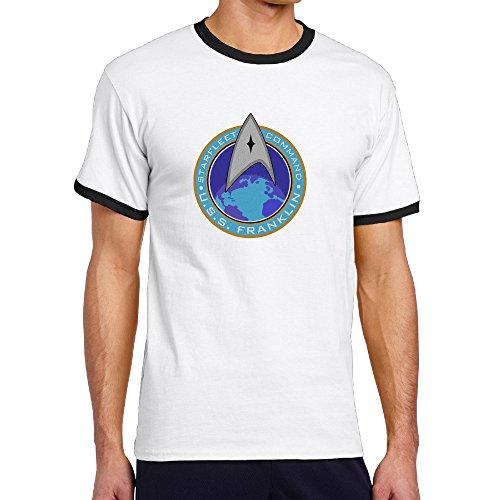 Price comparison product image Jade Men's Two-toned T-shirt-Classic Star Film Logo Black Size L