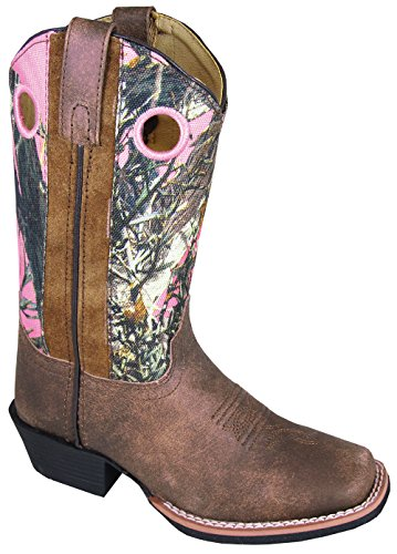 Smoky Mountain Child's MESA Square Toe Boot 1R Distressed Br