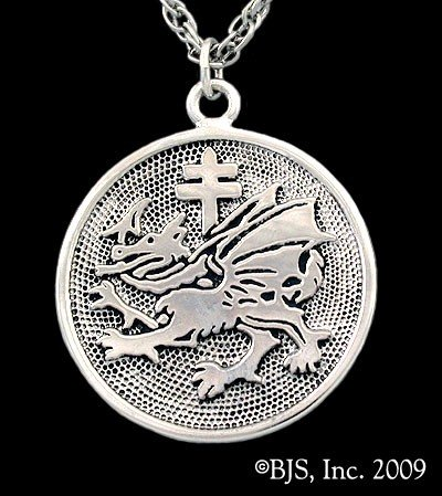 Dracula's Order Of the Dragon Sterling Silver Charm (Dracula Images Costumes)
