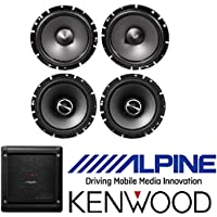 (2) Pairs Alpine 6.5 Coaxial Car Speakers Totalling 960 Watts Peak / 320 Watts RMS Kenwood Excelon X301-4 4-channel car amplifier 50 watts RMS x 4