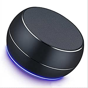 Portable Bluetooth Speakers Mini Wireless Bluetooth Speakers Portable Travel Speakers Home Bedroom Office Car Outdoor(80805mm) ( Color : Black )
