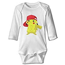 Luckva Baby's Pokemon Pocket Monster Pikachu Long Sleeve Romper Climbing Clothes