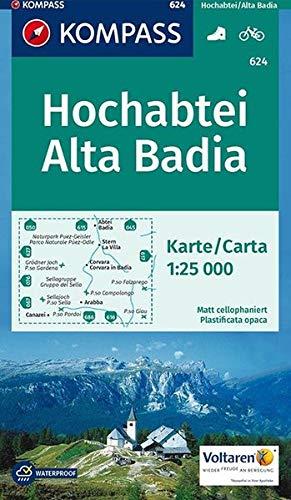 Hochabtei, Alta Badia: Wanderkarte mit Radrouten. GPS-genau. 1:25000 (KOMPASS-Wanderkarten, Band 624)