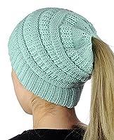 M_Eshop 2 Pack of Ponytail Baseball Cap Hat Ponycap Messy High Bun Ponytail Adjustable Mesh Trucker Baseball Cap Hat for Women Men Girl