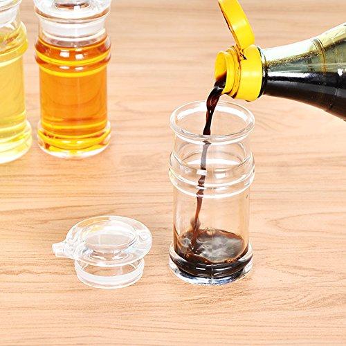120/150/210ml Transparent Acrylic Sauce Bottle Clear Acrylic Vinegar Olive Oil Bottle BBQ Dispenser Shaker Seasoning Bottle for Home Kitchen Cooking Tool (120ML,Transparent-120ML) by YOEDAF (Image #7)