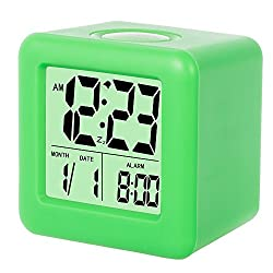 SkyNature Silicon Cube Led Alarm Clock Large Display with Nightlight and Snooze