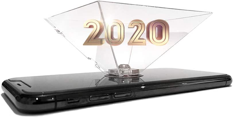 Pirámide holográfica plegable para smartphone y tablet con ventosa ...
