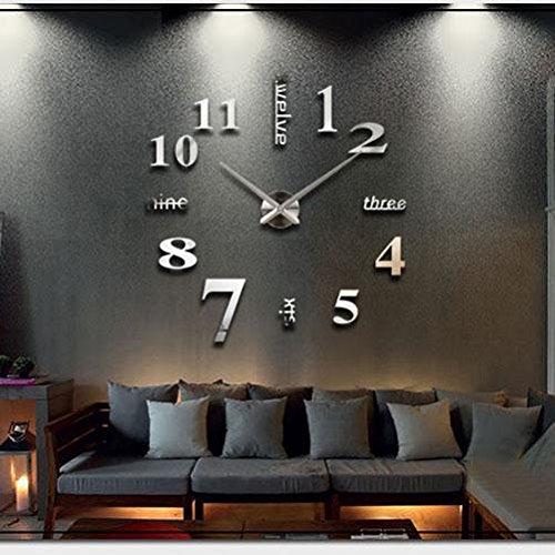 Orologio da parete effetto tridimensionale 3d decorazione for Orologi da parete adesivi