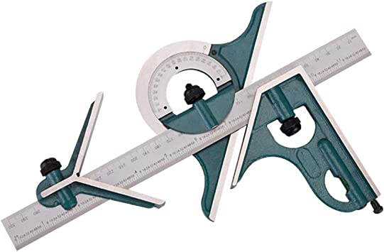 Combination Square Etched Stainless Steel Universal Bevel Angle Ruler 12/'/'