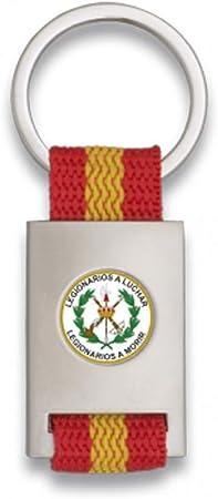 Tiendas LGP Albainox- Llavero Bandera DE ESPAÑA y Emblema La Legion- Legionarios a Luchar, Plateado: Amazon.es: Equipaje