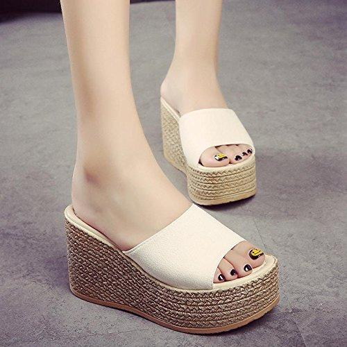Chaussure Pantoufle décontractée Chaussures pour femmes Confortable Pantoufle sandale plateforme sandales talons Q9f4PLD