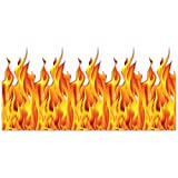 Beistle Flame Backdrop, 4 by 30-Feet, Multicolor