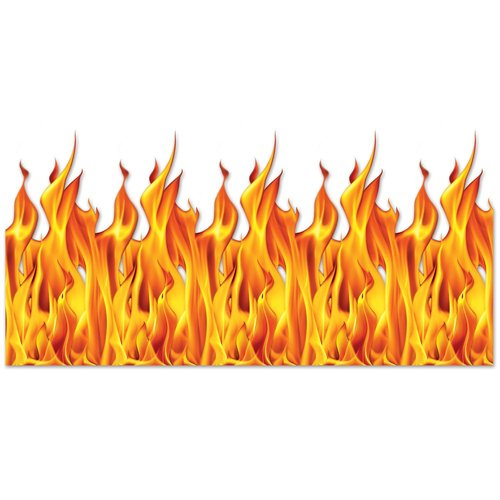 Beistle Flame Backdrop, 4 by 30-Feet, Multicolor]()