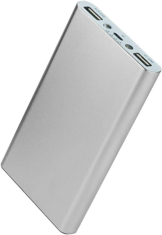 10000mah P21810 Ultra Slim Portable Charger External Battery Pack USB-C 2 Input Power Bank for Phones Tablets ExpertPower