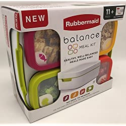 BPA-Free Lunch Box Kit - 11-Piece Rubbermaid Balance Meal Containers