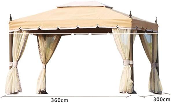 Pabellón Al Aire Libre, Toldo Protector Solar Aleación Aluminio Portátil Impermeable Prueba De Viento Adecuado para La Fiesta De Camping Playa Barbacoa Cena Boda: Amazon.es: Deportes y aire libre