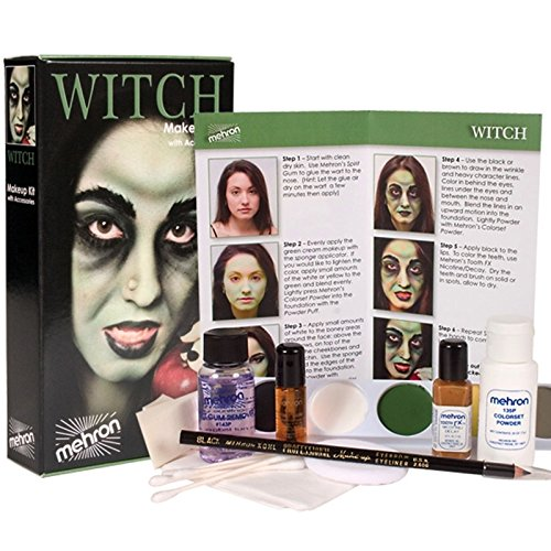 Mehron Premium Witch Character Kit (Witch Makeup Set)