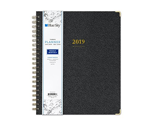 Blue Sky 2019 Weekly & Monthly Planner, Hardcover, Twin-Wire Binding, 8.5 x 11, Carerra