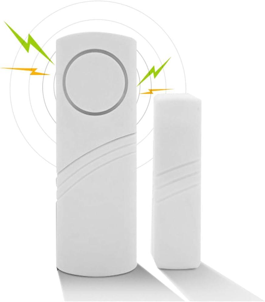 VOVCIG Door Window Alarm Secure Wireless Door Window Contact Sensor 100dB Alarm Sensor Wireless Door Open Sensor Alarm Chime Burglar Anti-Theft for Kids Safety Home Shop Security