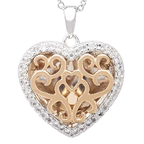 With You Lockets-Fine 14K Rose Gold-Custom Photo Heart Locket Necklace-That Holds Pictures for Women-The Mary