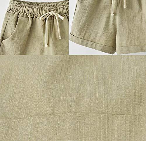 Da Pantaloni Elastico In Alla Donna Size Global Cachi TT Short Vita Pantaloni Pantaloncini Estate Bermuda Da Corti Plus Donna zuava Donna Corti Harem Corti 14PHvx