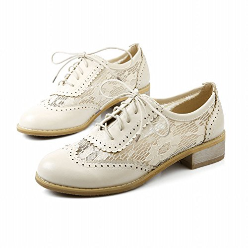 Lace Womens Shoes Brogue Oxfords Low Apricot Charm Foot Heel Fashion UqnST
