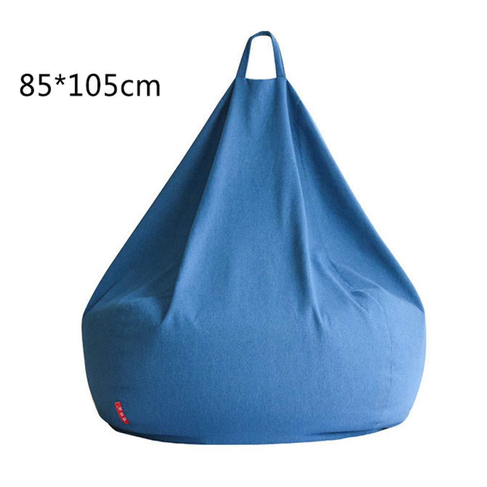 Fodera Copri Bean Bag Tessuto di Cotone E Lino Pregiato per Camera da Letto Soggiorno Giardino,Blu,45 * 25CM RIYIFER Forma A Goccia dAcqua Copertura per Poltrona A Sacco