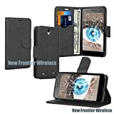 Sky 5.5Q Wallet Case with Stand Flip Case, Hand Band, Credit Card Slots, Many Colors Availabable (Wallet Black)