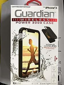 GUARDIAN Certified WATERPROOF IP68 /DROPP PROOF/SCRATCH PROOF Wireless Power 3000 mAh module w/2 in 1 Snap Fit Design for iPhone X