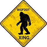 Bigfoot Crossing Metal Sign