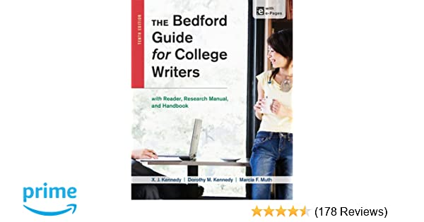 The bedford guide for college writers with reader research manual the bedford guide for college writers with reader research manual and handbook x j kennedy dorothy m kennedy marcia f muth 9781457630767 fandeluxe Image collections