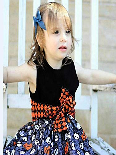 Toddler Halloween Clothing Girls,MONsin Toddler Kids Little Girls Cartoon Halloween Dress Princess Party Outfits Clothes