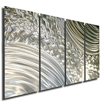 Amazon.com: Breath Taking Natural Silver Modern Abstract Etched ...