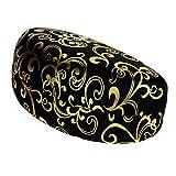 SA106 Womens Foil Floral Silk Oversize Sunglasses Eyeglasses Clam Shell Hard Case