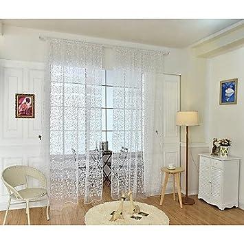 Pwne Ein Flächenvorhang Europäische, Blume Wohnzimmer Polyester Material  Gardinen Jalousien Home Dekoration Für Fenster,