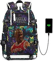 Basketball Player Star Legend Never Ends Multifunction Backpack Travel Student Laptop Daypack Fans Bookbag For