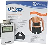 TENS 7000 to Go 2nd Edition Back Pain Relief System - Tens Unit Muscle Stimulator for Lower Back Pain - Includes Conductive Back Brace, Prescription Strength Pain Relief