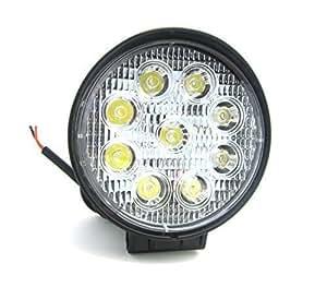 WINGONEER 27W Bridgelux LED Ronda Lámpara Bombillas de luz Lámpara Trabajo Faro de Trabajo Luz para Motocicletas Jeep SUV ATV Off-road de camiones- color blanco