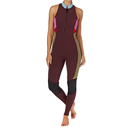 8658859f18651 Billabong Womens Salty Jane 2mm 2018 Sleeveless Front Zip Wetsuit 10  Mulberry