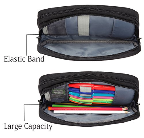 Pencil Case,Vaschy Large Capacity Pen Holder Pouch with ... - photo#9