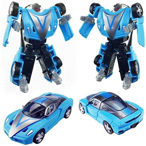 TelDen Mini Transform Car Robot Transforming Robot Car Toys for Kids Toddler