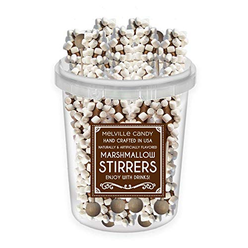 Milk Chocolate Coated Stirrer Stick With Mini Marshmallows (30 ct Bucket)