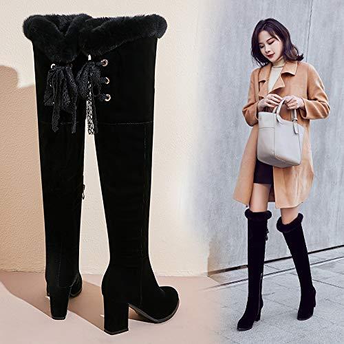HBDLH HBDLH HBDLH Damenschuhe Stiefel Heel 7 cm Dicke Sohle 100 Sätze Lackiert - Stiefel 3faeeb